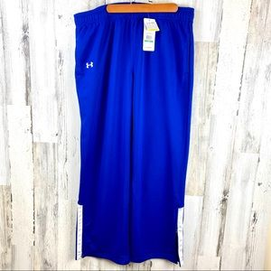 UNDER ARMOUR UA WARMUP PANTS LOOSE FIT ROYAL BLUE